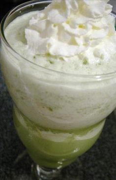 Matcha Green Tea Smoothie or Iced Latte from Food.com:    It has tons of antioxidents and helps boost metabolism and helps you burn more fat and thus lose more weight.  I