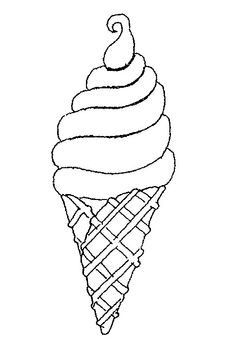 Ice Cream Drawing Google Zoeken ภาพขาวดำ Ice Cream Coloring