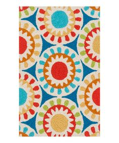 Another great find on #zulily! Blue & Red Medallion Angelou Rug #zulilyfinds