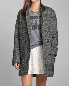 Womens Madeline Herringbone Coat