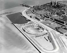 The Bathing Pool, Marine Lake and Marine Promenade, New Brighton, 29 Majestic Historical Photos Of Britain From Above Liverpool History, London History, Tudor History, British History, Ancient History, Bath City Centre, Victoria Memorial, Liverpool England, New Brighton