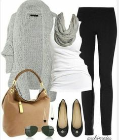 Outfit Ideas for Over 40 | ... gray black and tan | outfit ideas appropriate for over 40's wi - dresses womens clothing, plus size womens clothing, womens clothing usa #flatsoutfitwork