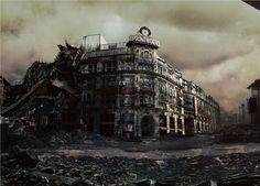 James Chadderton - Apocalypse in Manchester - The Printworks ruined