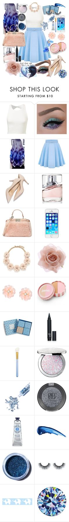 """Untitled #116"" by kukamilana ❤ liked on Polyvore featuring WithChic, HUGO, Fendi, J.Crew, Accessorize, Dettagli, jane, Vera Bradley, MAC Cosmetics and Guerlain"