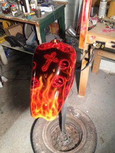 Gas Tank for West Coast Choppers CFL built and painted by John A. Ronning at Explicit Choppers in Miles City Mt.