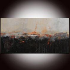 Oorspronkelijke landschap abstracte zwarte grote zwarte