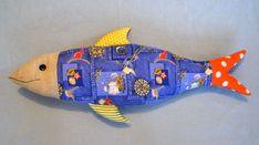 лоскутная подушка-игрушка рыба