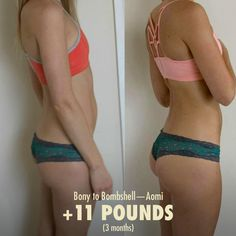 Bony to Bombshell Women Muscle Building Before and After Photo