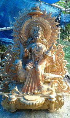 Saraswati Puja Pandal, Saraswati Murti, Saraswati Photo, Saraswati Statue, Lord Shiva Statue, Saraswati Goddess, Shri Ganesh Images, Hanuman Images, Durga Images