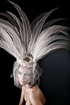 ☫ A Veiled Tale ☫ wedding, artistic and couture veil inspiration - Silver Lake~Anya Caliendo ~ Couture Millinery Atelier