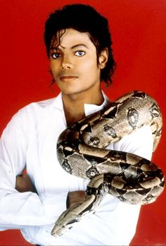 Pet Shop Boy    Eccentric pet-lover Michael Jackson poses with his pet boa constrictor on September 15, 1987.