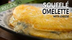 Soufflé Omelette with Cheese - YouTube Baked Omelette, Souffle Recipes, What's For Breakfast, Breakfast Pancakes, Breakfast Recipes, Frittata, High Tea, Quick Easy Meals, Gastronomia