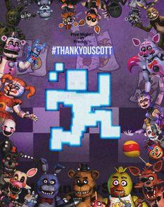 Five Nights At Freddy's, Scott Cawthon, Try Your Best, Fandom, Fnaf Drawings, Sister Location, Anime Fnaf, Ale, Bye Bye
