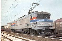 Alstom/SNCF CC21003, prestada a Amtrak y modificada y numerada como X996, en Belfort, Francia
