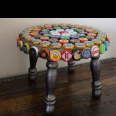 Like this Idea...and I have SOOOO many left over bottle caps!