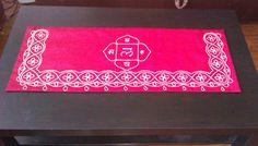 Altar cloth with Indian and Basque motifs, embroidery on silk Altar Cloth, Elf, Indian, Embroidery, Rugs, Handmade, Home Decor, Basque, Farmhouse Rugs