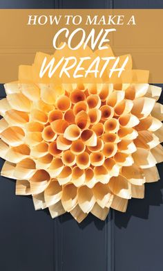 Fall Door Decor: Cone Wreath | Martha Stewart Living - Tack points of innermost cones to poster board as well as to each other. Let dry completely, about 5 minutes.