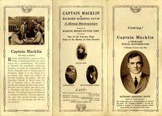 Captain Macklin (1915)  - Captain Macklin; 1915; John B. O'Brien; Jack Conway; Lillian Gish; Spottiswoode Aitken; William Lowery; W.E. Lowery; Dark Cloud; Erich von Stroheim; silent film;