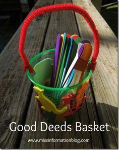 Good Deeds for Kids to do one per week missinformationblog.com