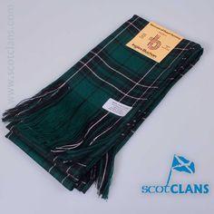 Pure wool full sash in MacLean of Duart Hunting g Modern Tartan - from ScotClans