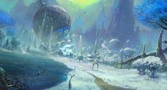 「ICARUS ONLINE」50枚以上のコンセプトアートやスクリーンショットを本日公開 - ネトゲブックマーク Fantasy Images, Dark Fantasy Art, Fantasy World, Environment Concept Art, Environment Design, Scenery Pictures, Picture Story, Fantasy Landscape, Environmental Art