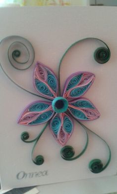 Flower by quilling