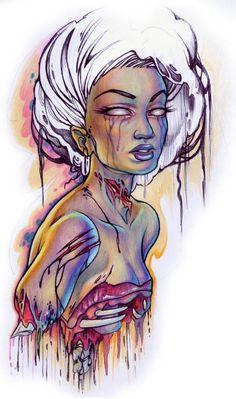 zombie watercolor