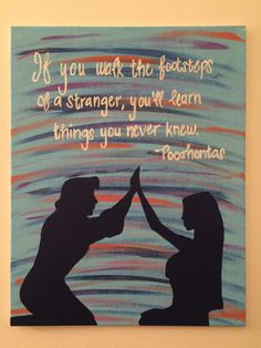 Disney Pocahontas Silhouette Canvas ~This is a picture of the original. Yours wi… - Canvas Painting Disney Princess Paintings, Disney Canvas Paintings, Disney Canvas Art, Easy Canvas Painting, Disney Art, Disney Theme, Silhouette Painting, Disney Pocahontas, Painting Quotes