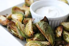 Thats so Michelle...: Crispy Brussels Sprouts with Greek Yogurt Ranch