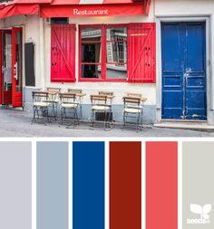 parisian palette by Design Seeds Colour Pallette, Colour Schemes, Color Patterns, Color Combinations, Design Seeds, Living Colors, Colour Board, World Of Color, Color Swatches