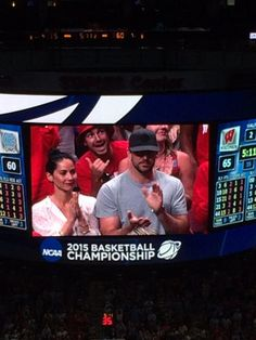 Well Played, Son -- The mad photobomber gets photobombed on the Jumbotron.