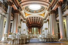 Stunning spring wedding at the Signet Library, Edinburgh - photo credit Elemental Photography
