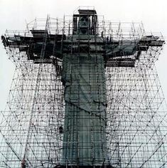 #andamios en el Cristo de Corcovado