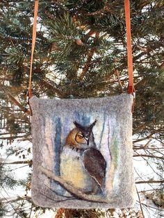 Купить Сумка валяная Лесной страж - валяная сумка, сумка валяная, валяная, сумка