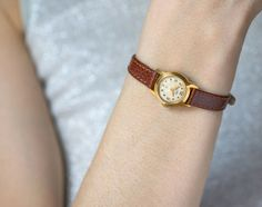 Very rare woman's watch ERA gold plated micro by SovietEra on Etsy