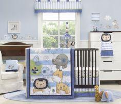 Kids Line 4 Piece Crib Bedding Set, Jungle Doodle (Discontinued by Manufacturer) Kohls Bedding Sets, Baby Boy Bedding Sets, Nursery Bedding Sets, Crib Sets, Baby Boy Rooms, Baby Boy Nurseries, Baby Cribs, Nursery Room, Nursery Decor