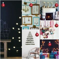 Looking for tree alternatives or full-of-cheer decorating for small spaces or busy households? Here are some easy and quick DIY Christmas decorating ideas. Holiday Decorating, Decorating Ideas, Christmas Diy, Christmas Decorations, Small Spaces, Cheer, Gallery Wall, Frame, Life