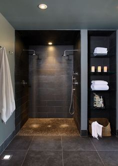 The dual shower heads make this a great option for couples! :-)