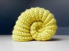 Ammonite fossil by Crochet Global Hyper Mega Net Free crochet pattern!