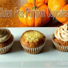 Gluten Free Pumpkin Cupcakes ~ Made 3 Ways!