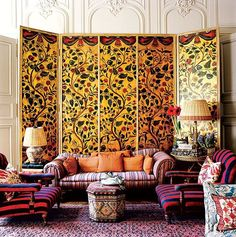 Photographed by Pascal Chevallier, Vogue Living, Spring/Summer 2008, Boho Living Room