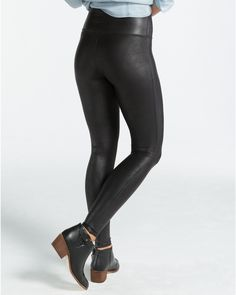 a2868b358d052 The Spanx Difference When you're getting ready for a night out, this  oh-so-chic fan-favorite is your new go-to. We made this faux leather legging  with the ...