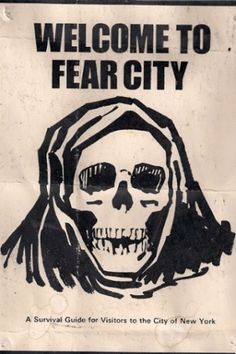 'Welcome to Fear City' – the inside story of New York's civil war, 40 years on.-- There arises, for the first time in its history, the possibility that New York will no longer be a place where talented young people want, or can afford, to go – becoming instead the world's largest gated community: incalculably wealthy, sterile, and dull. This, surely, would be the real Fear City.