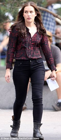 Love these moto boots!  Piper has been with the USA Network Covert Affairs July 2010