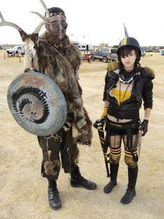 Fur, antlers, spikes, mesh, dirt.
