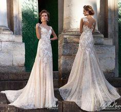 2016 Fashional Mermaid Wedding Dresses Lace With Appliques Blush Pink Sheer Illusion Bodice Zipper Wedding Gowns Custom Size Chapel Train Online with $107.04/Piece on Hjklp88's Store