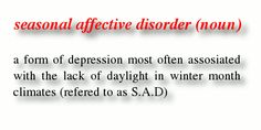 Seasonal Affective Disorder | Do you find yourself sad and anxious in the winter months?