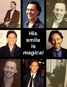 Is it just me or does Tom Hiddleston have one of the most beautiful smiles ever? Hiddles' smiles to brighten your day. :)