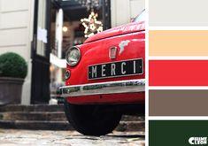 Color Palette, car, red.