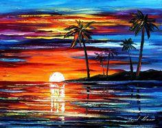 art.quenalbertini: Seascape by Leonid Afremov, My website afremov.com